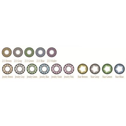 Увеличивающие  2-х тоновые Цветные линзы P-Con в Размере  15.00mm
