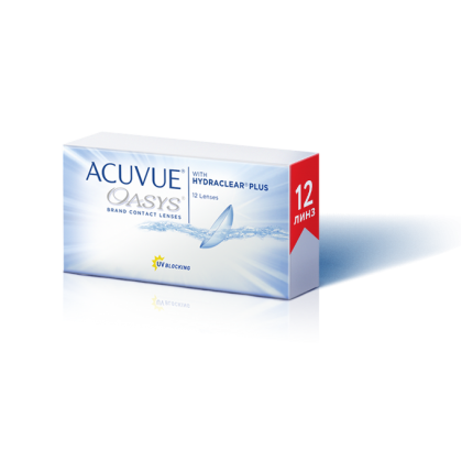 НОВИНКА!!! Acuvue Oasys ® with Hydraclear Plus 12 шт.
